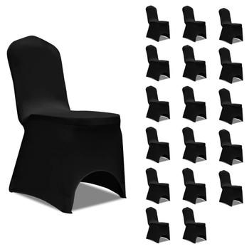 vidaXL Navlake za stolice rastezljive crne 18 kom