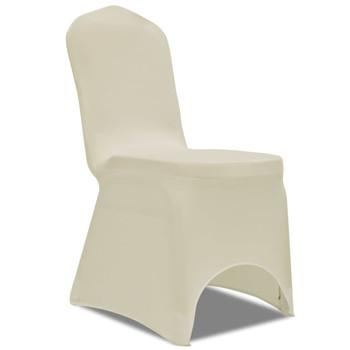 vidaXL Navlake za stolice rastezljive krem 30 kom