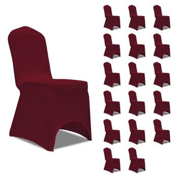 vidaXL Navlake za stolice rastezljive bordo 18 kom