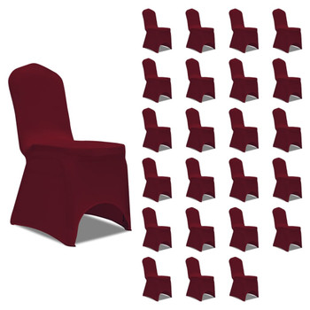 vidaXL Navlake za stolice rastezljive bordo 24 kom