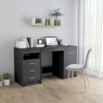 vidaXL Radni stol sivi 140 x 50 x 76 cm od iverice
