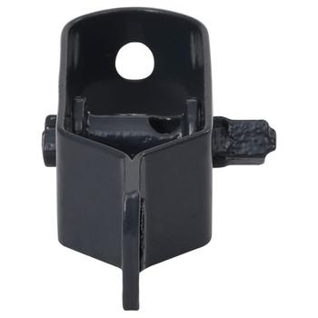 vidaXL Zatezači za žicu za ogradu 50 kom 100 mm čelični antracit