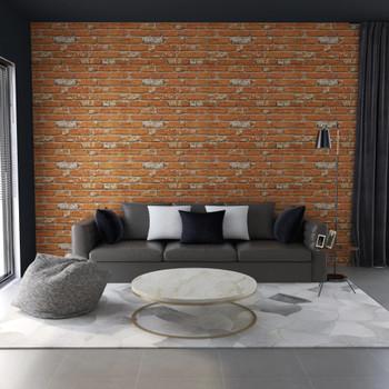 vidaXL 3D zidni paneli s uzorkom svjetlosmeđih cigli 11 kom EPS