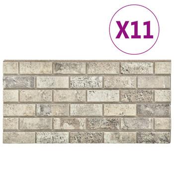 vidaXL 3D zidni paneli s uzorkom cigli boje pijeska 11 kom EPS
