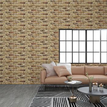 vidaXL 3D zidni paneli s uzorkom cigli tamne boje pijeska 11 kom EPS