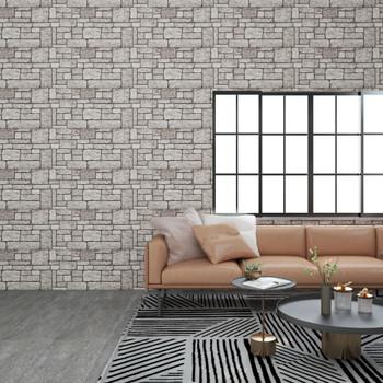 vidaXL 3D zidni paneli s uzorkom sivih cigli 11 kom EPS