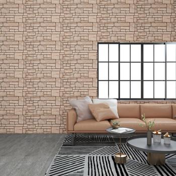 vidaXL 3D zidni paneli s uzorkom bež cigli 11 kom EPS