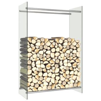 vidaXL Stalak za drva za ogrjev prozirni 80 x 35 x 120 cm stakleni