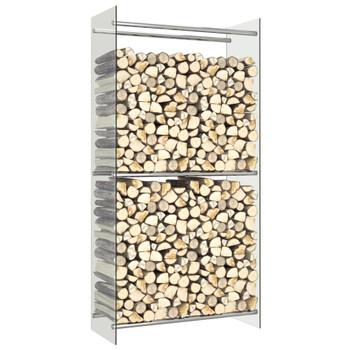 vidaXL Stalak za drva za ogrjev prozirni 80 x 35 x 160 cm stakleni