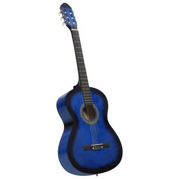 """vidaXL Klasična gitara za početnike plava 4/4 39"""" od drva lipe"""