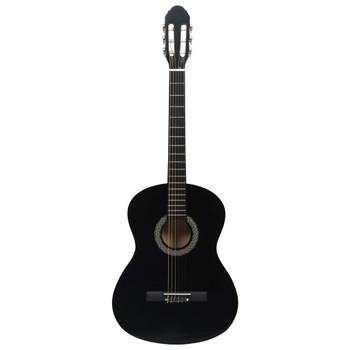 """vidaXL Klasična gitara za početnike crna 4/4 39"""" od drva lipe"""
