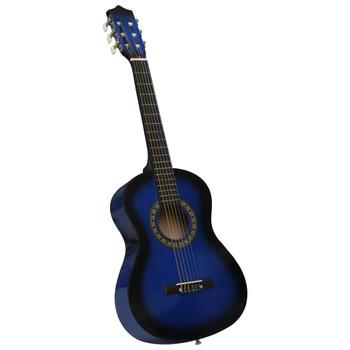 """vidaXL Klasična gitara za početnike i djecu plava 1/2 34"""""""