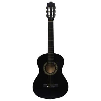 """vidaXL Klasična gitara za početnike i djecu crna 1/2 34"""""""