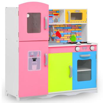 vidaXL Dječja kuhinja za igru MDF 80 x 30 x 85 cm raznobojna