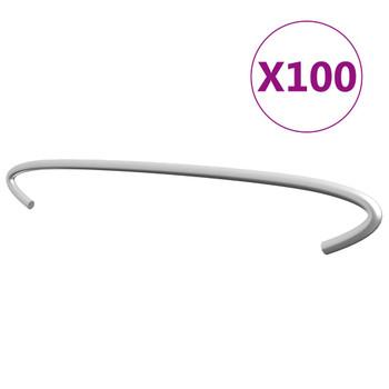 vidaXL Gabionske kuke 100 kom od pocinčanog čelika 40 cm