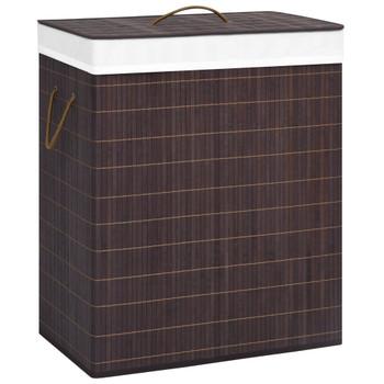 vidaXL Košara za rublje od bambusa smeđa 100 L