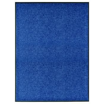 vidaXL Otirač perivi plavi 90 x 120 cm