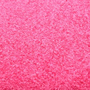 vidaXL Otirač perivi ružičasti 60 x 90 cm