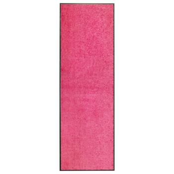 vidaXL Otirač perivi ružičasti 60 x 180 cm