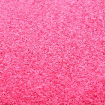 vidaXL Otirač perivi ružičasti 90 x 150 cm