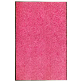 vidaXL Otirač perivi ružičasti 120 x 180 cm