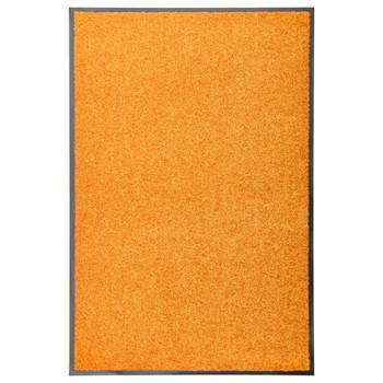 vidaXL Otirač perivi narančasti 60 x 90 cm