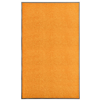 vidaXL Otirač perivi narančasti 90 x 150 cm