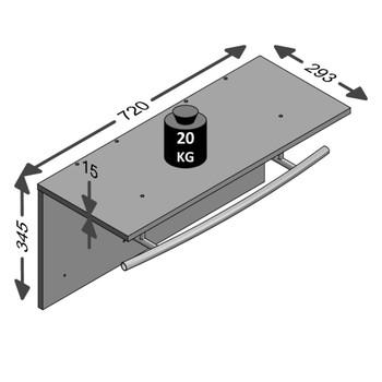FMD zidna vješalica za kapute 72 x 29,3 x 34,5 cm starinska smeđa