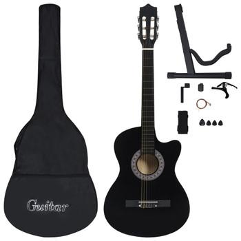 """vidaXL 12-dijelni set akustične gitare Western sa 6 žica crni 38 """""""