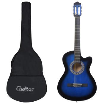 """vidaXL 12-dijelni set akustične gitare Western sa 6 žica plavi 38 """""""