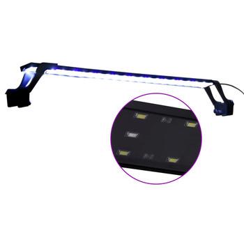 vidaXL Akvarijsko LED svjetlo sa stezaljkama 75 - 90 cm plavo-bijelo