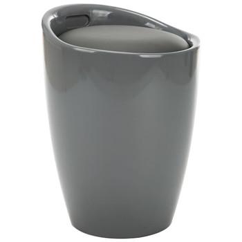 vidaXL Tabure za pohranu od umjetne kože sivi
