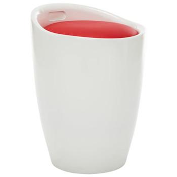 vidaXL Tabure za pohranu od umjetne kože bijelo-crveni