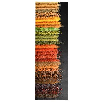 vidaXL Prostirka za kuhinjski pod s uzorkom začina periva 45 x 150 cm