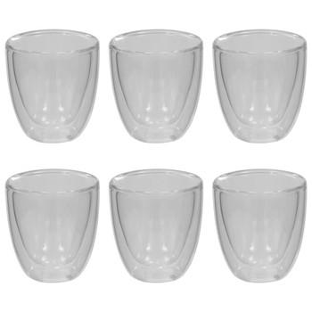 vidaXL Termo čaše za espresso s dvostrukom stijenkom 6 kom 80 ml