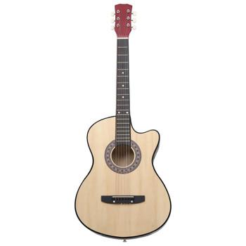 """vidaXL Akustična gitara Western s prorezom i 6 žica 38 """" od drva lipe"""