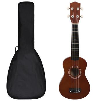 """vidaXL Set dječjeg ukulelea Soprano s torbom boja tamnog drva 21 """""""