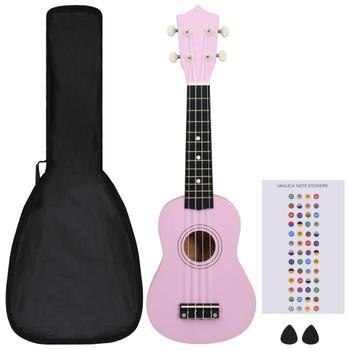 """vidaXL Set dječjeg ukulelea Soprano s torbom ružičasti 21 """""""