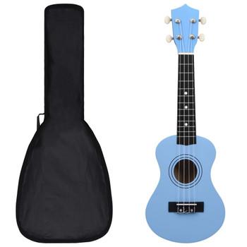 """vidaXL Set dječjeg ukulelea Soprano s torbom svjetloplavi 21 """""""