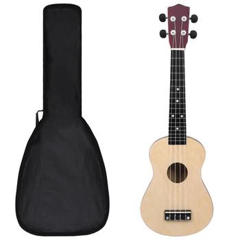 """vidaXL Set dječjeg ukulelea Soprano s torbom boja svijetlog drva 23 """""""