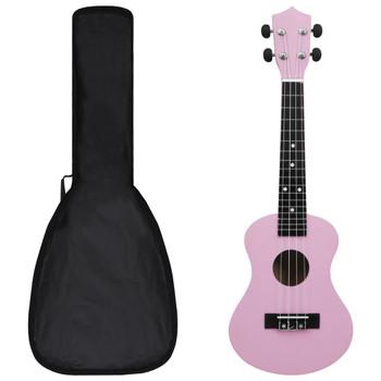 """vidaXL Set dječjeg ukulelea Soprano s torbom ružičasti 23 """""""