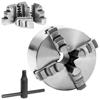 vidaXL Stezna glava za tokarski stroj s 4 čeljusti 100 mm čelična