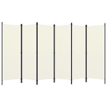 vidaXL Sobna pregrada sa 6 panela krem-bijela 300 x 180 cm
