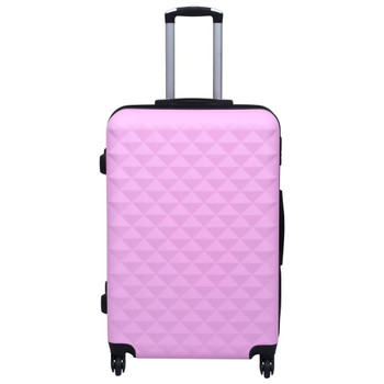 vidaXL 2-dijelni set čvrstih kovčega ružičasti ABS