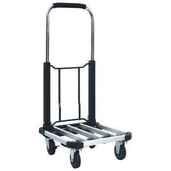 vidaXL Sklopiva transportna kolica 150 kg aluminijska srebrna
