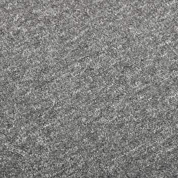 vidaXL Podne pločice s tepihom 20 kom 5 m² 50 x 50 cm sive