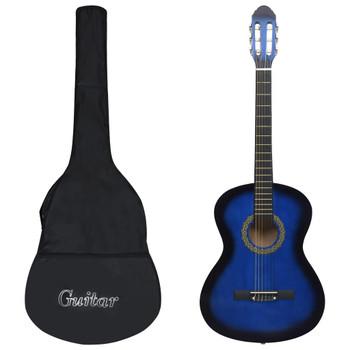 """vidaXL Klasična gitara za početnike s torbom plava 4/4 39 """""""