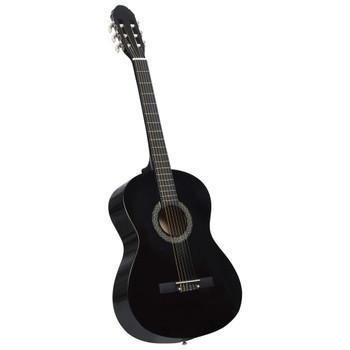 """vidaXL Klasična gitara za početnike s torbom crna 4/4 39 """""""