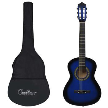 """vidaXL Klasična gitara za početnike i djecu s torbom plava 1/2 34 """""""