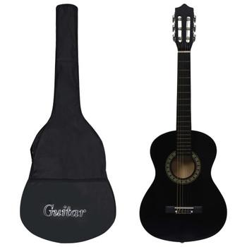 """vidaXL Klasična gitara za početnike i djecu s torbom crna 1/2 34 """""""